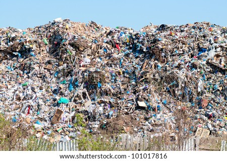 Municipal landfill for household waste in Kharkov. Ukraine