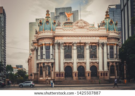 Municipal Theatre of Rio de Janeiro, Brazil. Theater, Concert hall and Opera house in the center of Rio de Janeiro. The most beautiful and important theatres in the country #1425507887