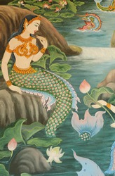 Mural of Mermaid