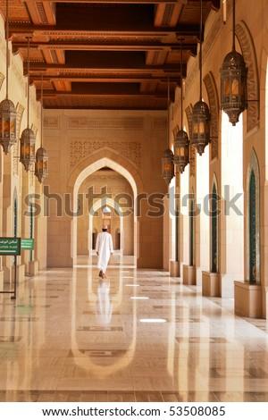 Muscat - Oman, Sultan Qaboos Grand Mosque - stock photo