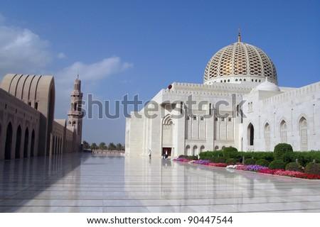 Muscat, Oman, Sultan Qaboos Grand Mosque - stock photo
