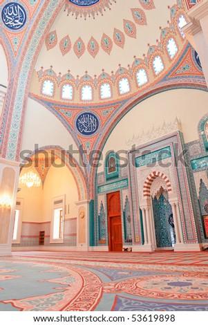 Muscat - Oman, Sultan Taymoor Mosque - Interior architecture