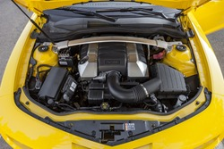 Muscle car engine compartment