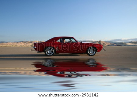 muscle car reflection
