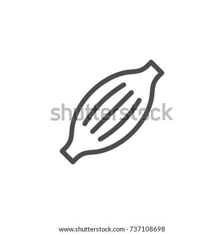 Muscle line icon isolated on white