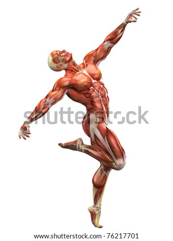 muscle man dancing the dance