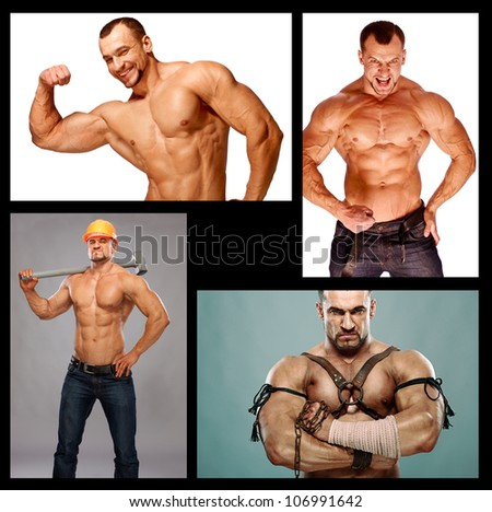 muscular male composition