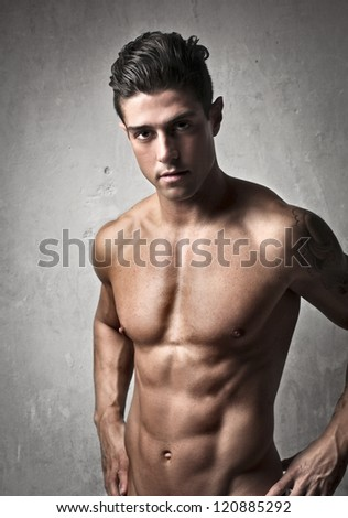 Muscular shirtless man