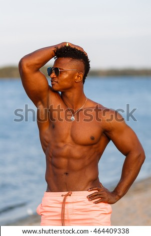 Hot black male models