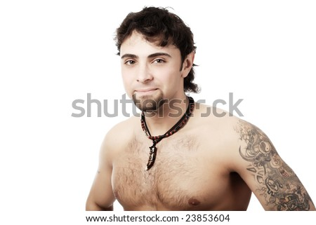 Muscular young man. Shot in a studio.