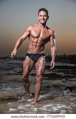 nacked guy in sea