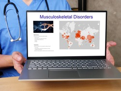 Musculoskeletal Disorders  phrase on the laptop.