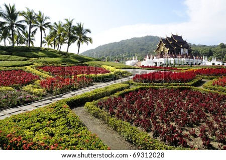 Museum And Landscape Of Northern Thailand. Area Surrounding A ...