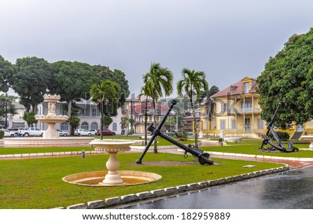 Museum Departmental Franconie in Cayenne, French Guiana. - stock photo