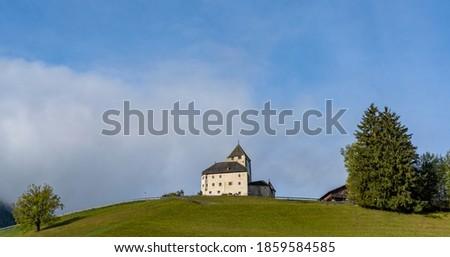Museum Ladin Ciastel de Tor castle in San Martino de Badia in Sudtirol, Italy Stok fotoğraf ©
