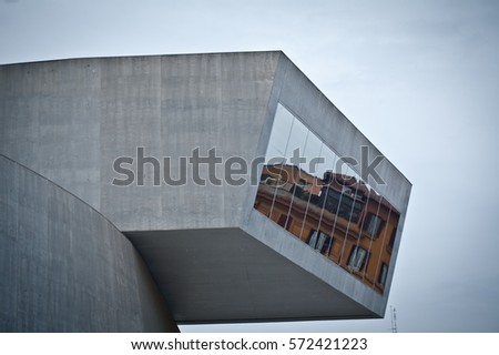 museum maxxi rome italy winter time detail of the building