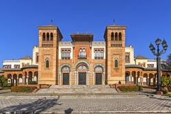 Museum of Arts and Traditions of Sevilla in Mudejar pavilion, Maria Luisa Park, Sevilla, Spain.