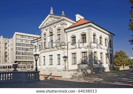 Museum of Frederick Chopin. Baroque palace in Warsaw.. Famous Dutch architect Tylman van Gameren.