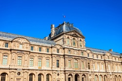 Museum of Louvre in the centre of Paris, France