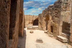 Museum of Tombs of the Kings in Cyprus. Archaeological Museum of Paphos. Complex of tombs of kings in Cyprus. Museums of island of Cyprus. Excursions in Paphos. Archaeological site in Paphos