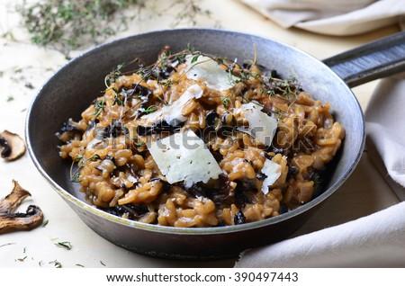 Shutterstock Mushroom Risotto on Vintage Pan
