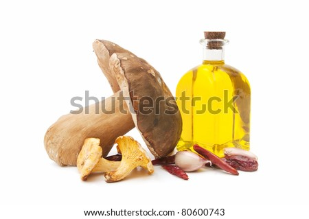 mushrooms and olive oil