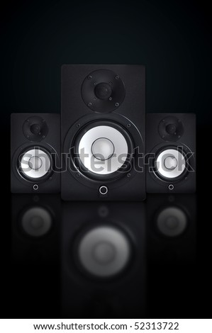 Music audio speakers, music equipment