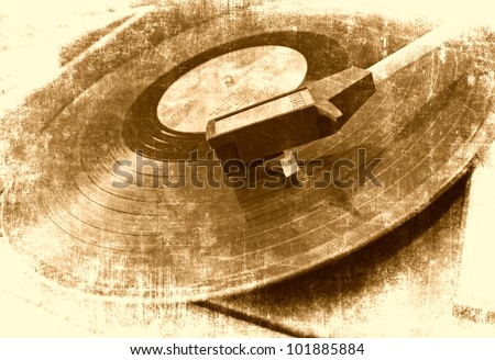 music background  vinyl player  ...