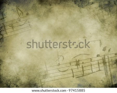 Music background with piano keys in grunge style. Music concept.