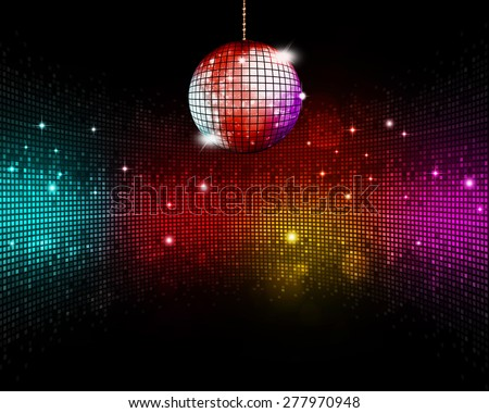 music ball multicolor disco party floor background