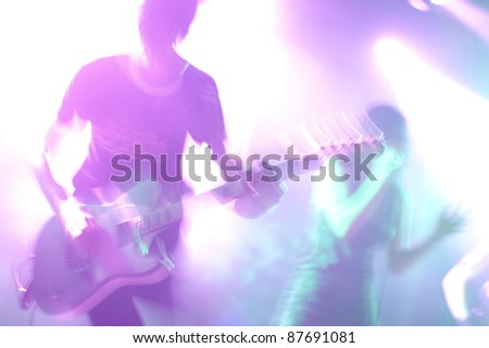 Music band - stock photo