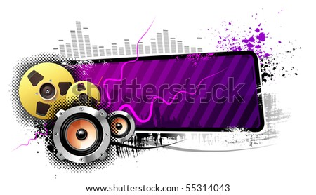 Music banner isolated - stock photo