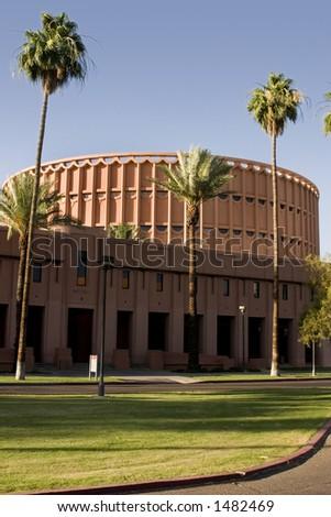 Music Building in front of the University Football Stadium - Arizona State University