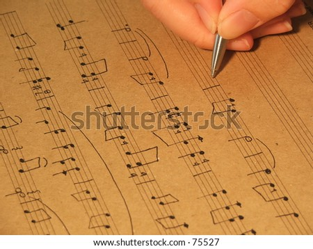 Music Composition handwrite
