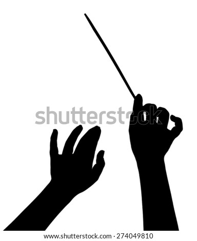 music conductor hands with...