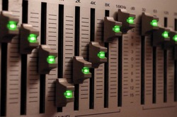 Music equaliser with green lights