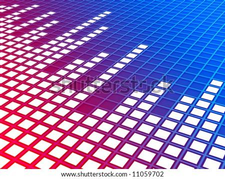 Music equalizer background. Rendered image.