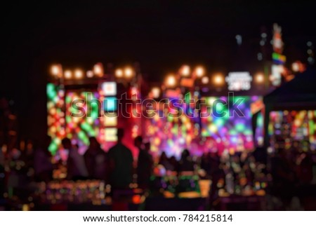 Blurred background in concert / Abstract lighting blur in concert