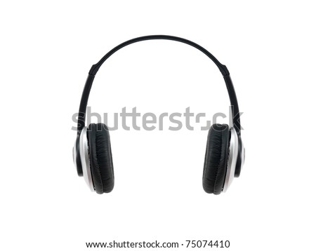 Music headphones isolated against a white background