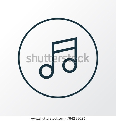 Music icon line symbol. Premium quality isolated musical note element in trendy style.