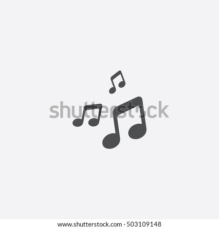music icon, on white background