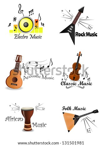 Music Labels Set. Its a raster version. Vector search in my port