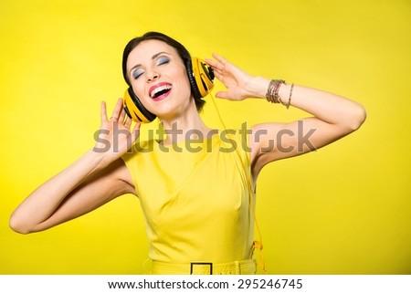 Music, listen, girl. - Shutterstock ID 295246745