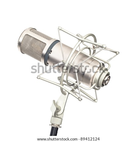Music microphone isolated on white