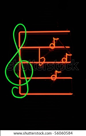 Music Note Neon Light Sign