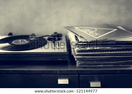 Music Old Fashioned Phonograph Concept #521144977