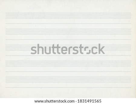 music paper preprinted with staffs for musical notation Photo stock ©