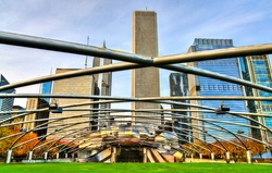 Music Pavilion at Millennium park in Chicago - Illinois, United States