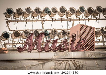 music sign - vintage effect filter