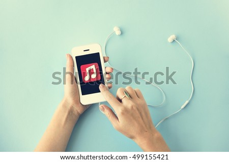 Music Song Playlist Entertainment Mobility Concept
